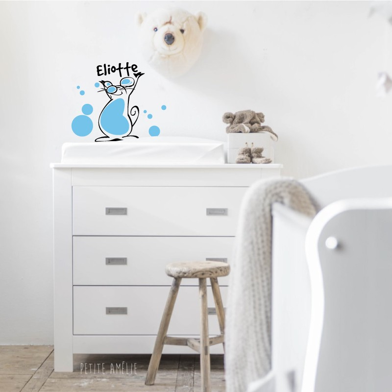 Stickers décor cage oiseaux