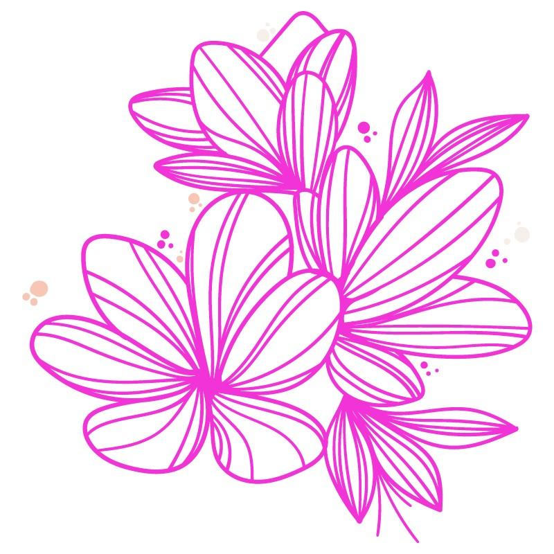 Stickers banc de poissons design