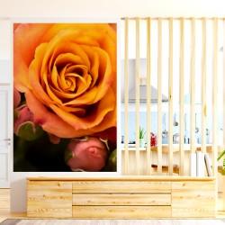 sticker fleurs escargot