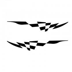 Film Translucide Vitrail fleurs